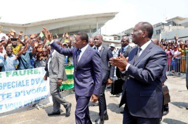 Visite de travail faure gnassingbe a Abidjan