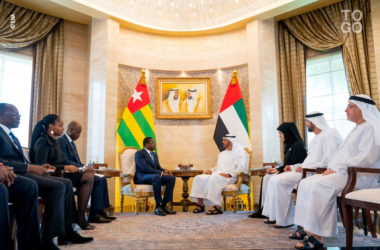 Le prince heritier d Abou Dhabi a recu Faure Gnassingbe