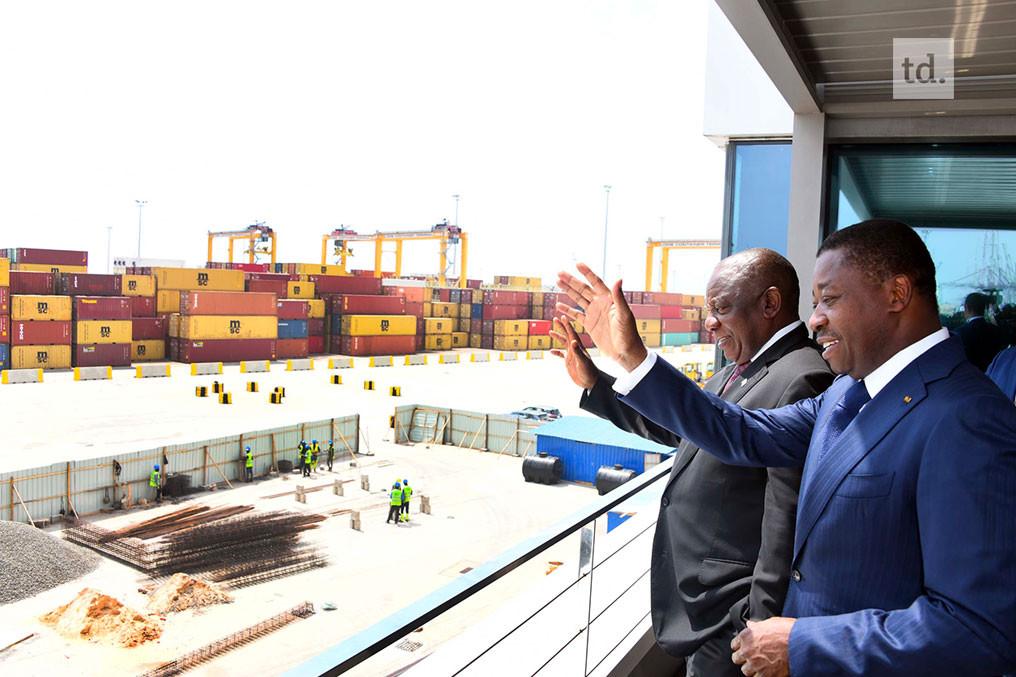 Faure Gnassingbe et Cyril Ramaphosa au port de lome