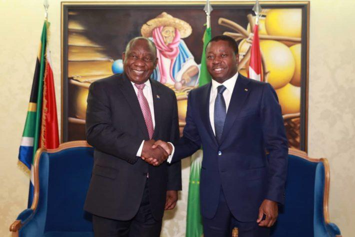 accueil du chef d etat sud africain a lome