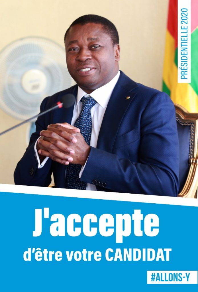 faure gnassingbe candidat presidentielle togo 2020