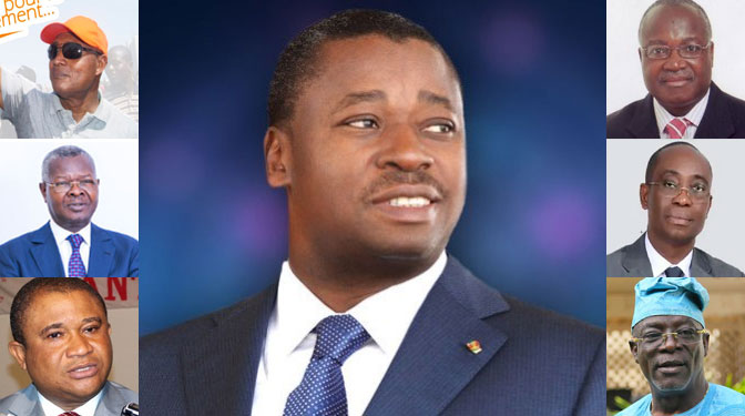togo les 7 candidats a election presidentielle 2020