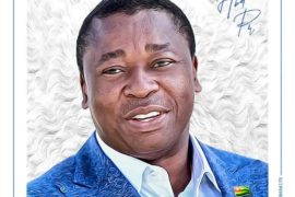 Portrait Faure Gnassingbe par artiste SATCHI Koamivi Akoegbe