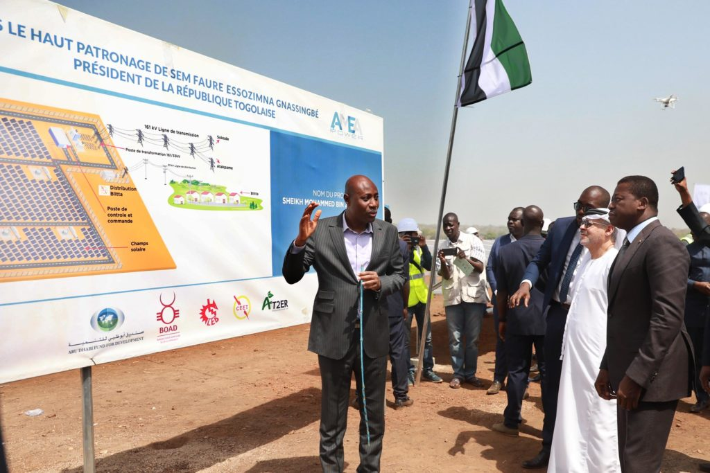 inauguration central de blitta Faure Gnassingbe Sheikh Mohammed Bin Zayed