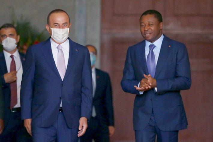 Faure Gnassingbe et Mevlut Cavusoglu