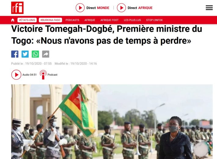 interview victoire sidemeho tomegah-dogbé radio france international