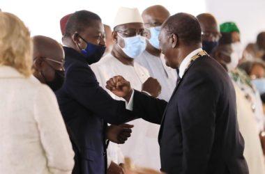 Faure Gnassingbe a l'investiture du President Alassane Ouattara